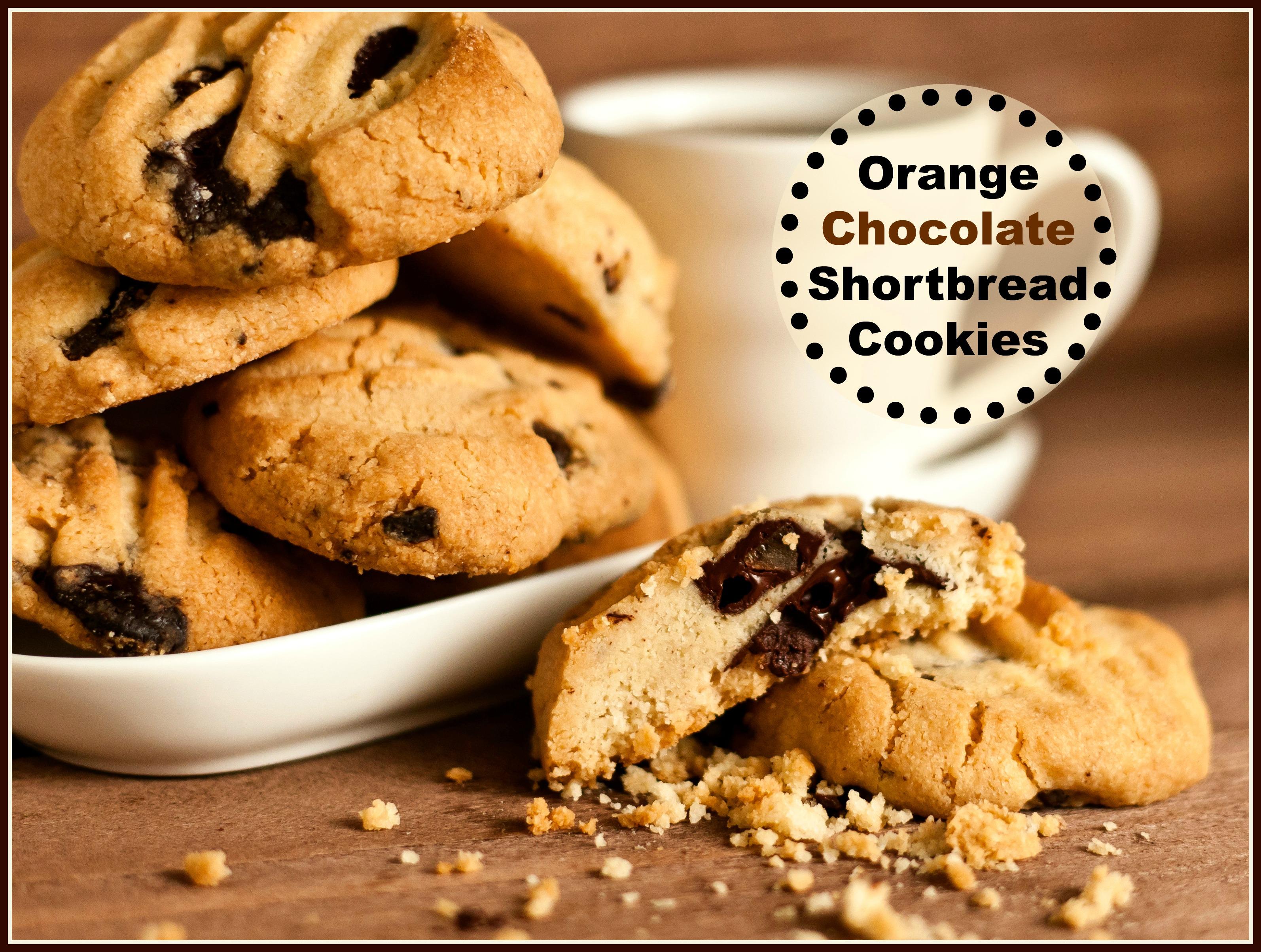 Orange Chocolate Shortbread Cookies